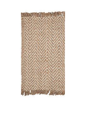 Natural Fiber Bleach/Natural Area Rug 3-ft. x 5-ft.