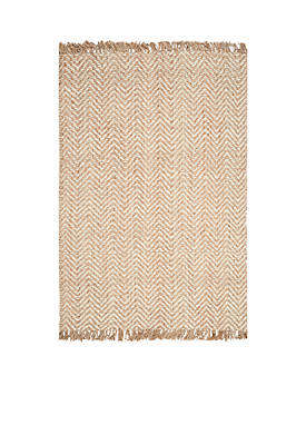 Natural Fiber Bleach/Natural Area Rug 5-ft. x 8-ft.