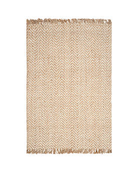 Natural Fiber Bleach/Natural Area Rug 6-ft. x 9-ft.