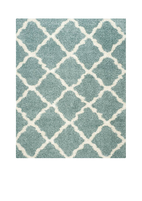 Dallas Shag Light Blue/Ivory Area Rug