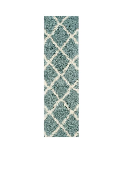 Safavieh Dallas Shag Light Blue/Ivory Area Rug