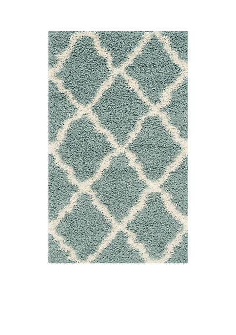 Safavieh Dallas Shag Light Blue/Ivory Area Rug
