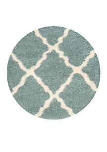 Dallas Shag Light Blue/Ivory Area Rug