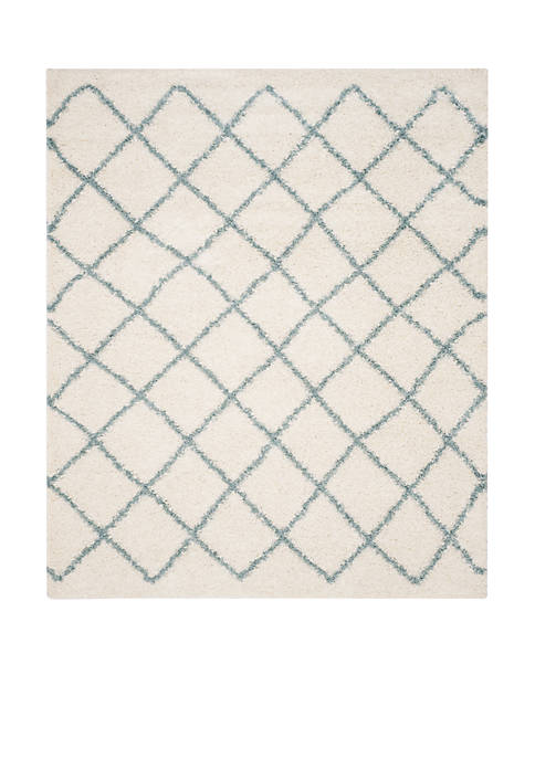 Dallas Shag Ivory/Seafoam Area Rug 8-ft. x 10-ft.