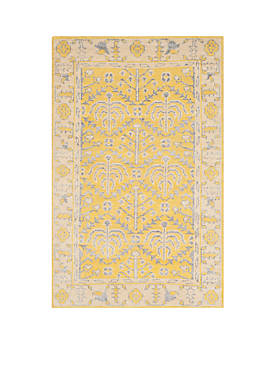 Stone Wash Yellow Area Rug 10-ft. x 14-ft.