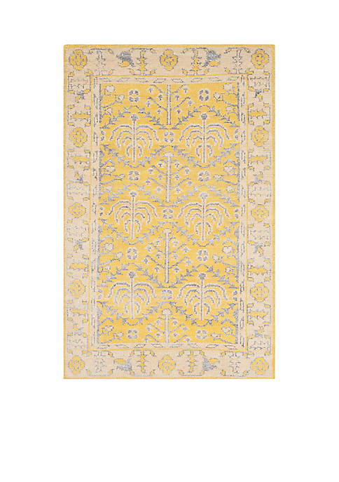 Stone Wash Yellow Area Rug 2-ft. 6-in. x 10-ft.