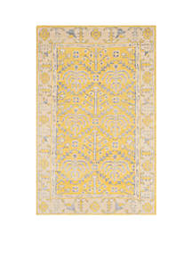 Stone Wash Yellow Area Rug 2-ft. 6-in. x 8-ft.