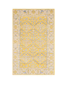 Stone Wash Yellow Area Rug 4-ft. x 6-ft.