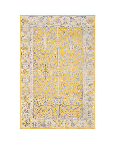 Stone Wash Yellow Area Rug 5-ft. x 8-ft.