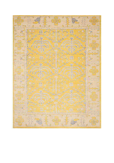 Stone Wash Yellow Area Rug 6-ft. x 6-ft.