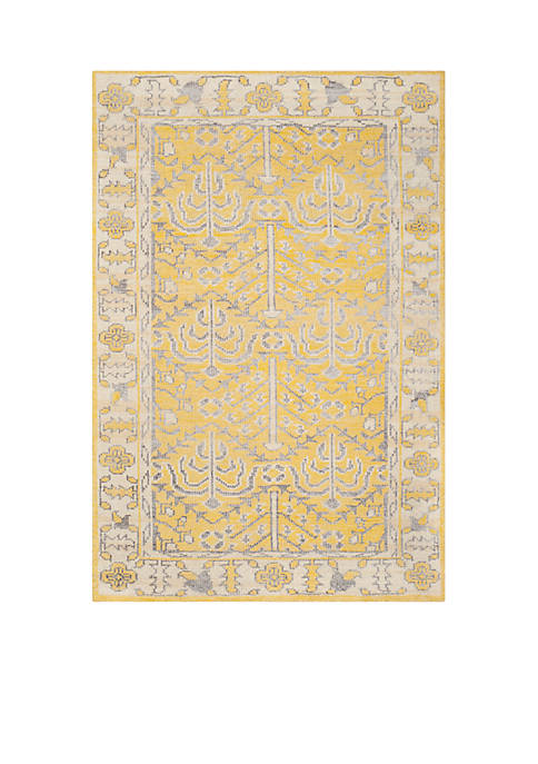 Stone Wash Yellow Area Rug 6-ft. x 9-ft.