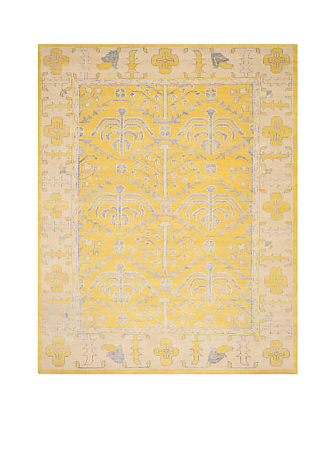 Stone Wash Yellow Area Rug 8-ft. x 10-ft.