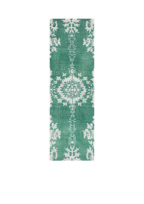 Stone Wash Emerald Area Rug 2-ft. 6-in. x 10-ft.