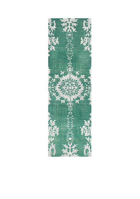 Stone Wash Emerald Area Rug 2-ft. x 8-ft.