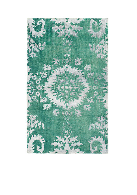 Stone Wash Emerald Area Rug 4-ft. x 6-ft.