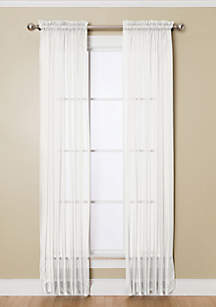Solunar Voile White Insulating Sheer Rod Pocket Panel