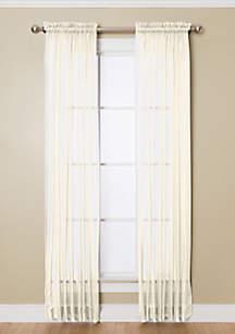 Solunar Voile Ivory Insulating Sheer Rod Pocket Panel