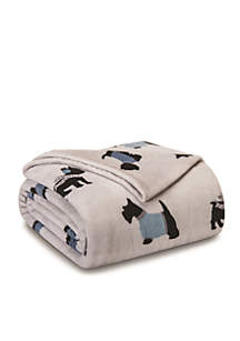 Elite Home Products Winter's Night Plush Blankets