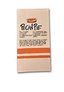 Pecan Pie Recipe Hand Towel