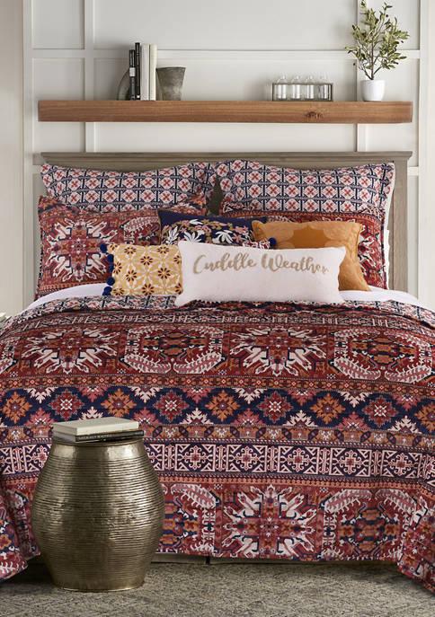 Arte Boema Madera Printed Velvet Quilt