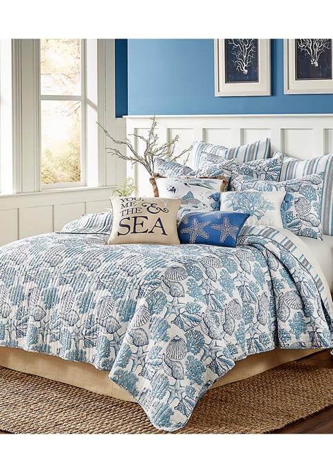 Blue Bay Full/Queen Quilt Set