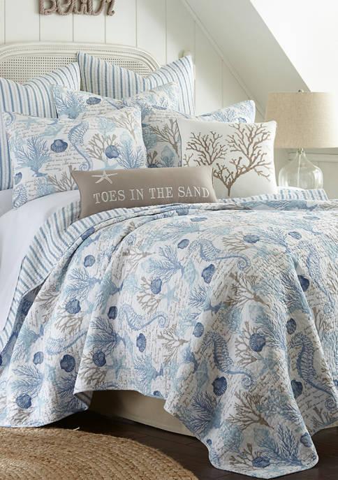 Levtex Home Galapagos Blue Full/Queen Quilt Set