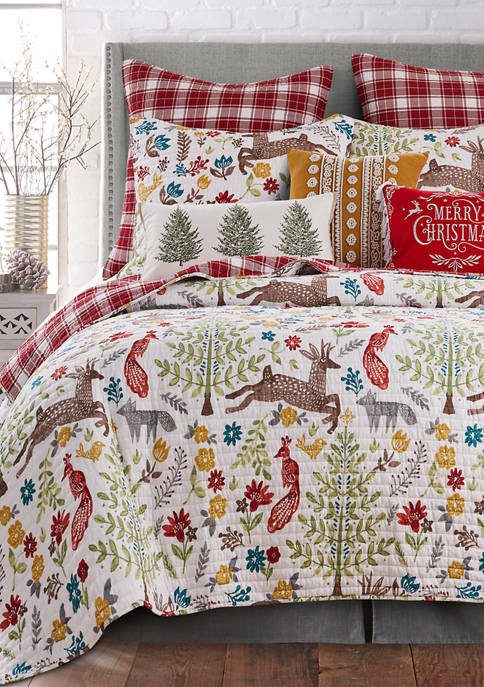 Folk Deer Quilt Set