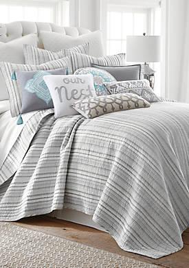 Vasari Stripe Gray Quilt Set