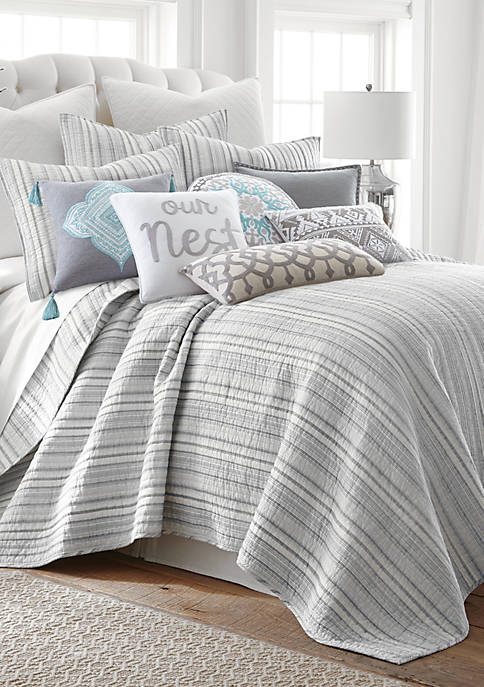 Levtex Vasari Stripe Gray Quilt Set
