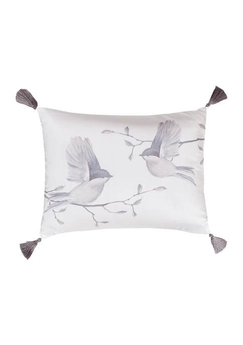 Levtex Arista Gray Birds Tassel Pillow