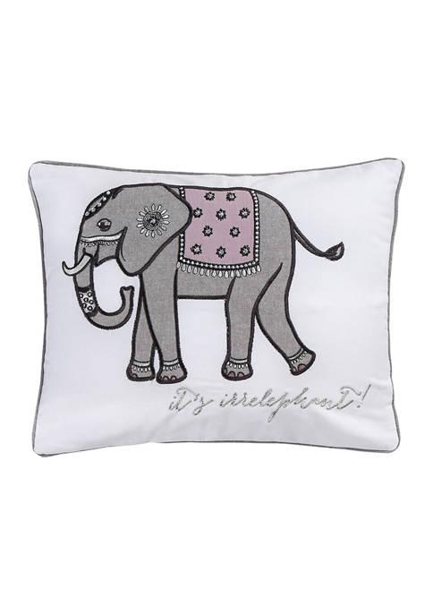 Levtex Rachelle Elephant Embroidered Pillow