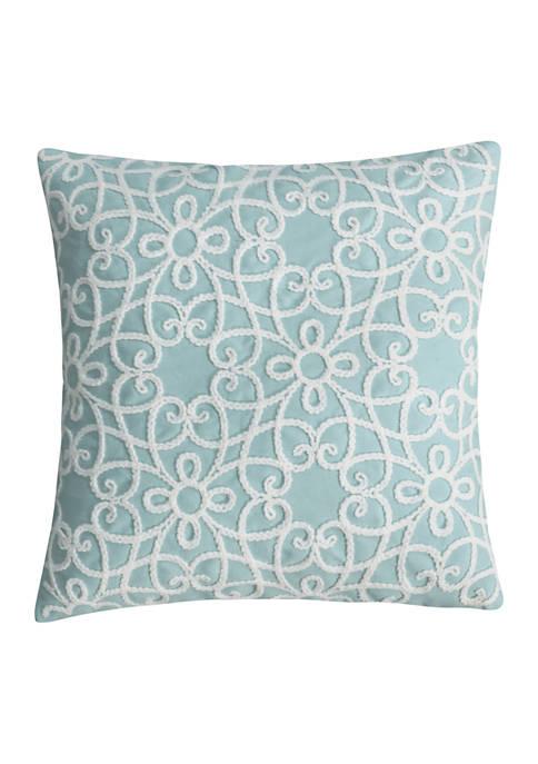 Veronique Embroidered Chenille Pillow