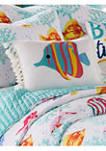 Playa Vista Crewel Fish Pillow