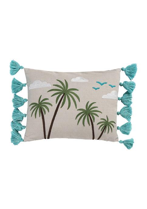 Levtex Beach Days Palm Tassel Pillow