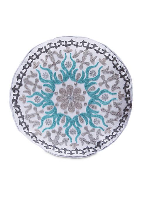 Vasari Stripe Round Medallion Pillow