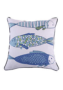 Levtex Kochi Fish Printed Fish Pillow