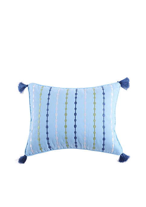 Levtex Kochi Embroidered Pillow With Tassels