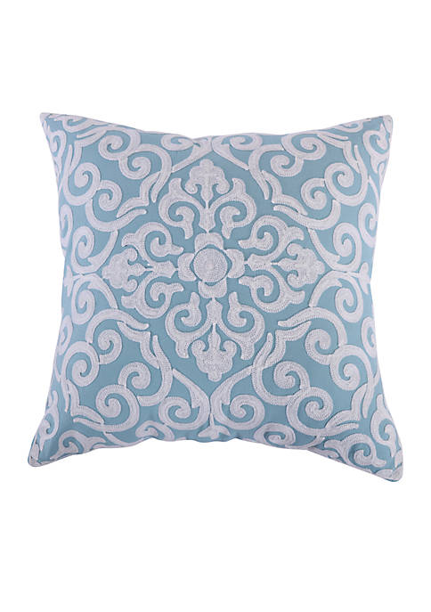 Aries Teal Medallion Pillow