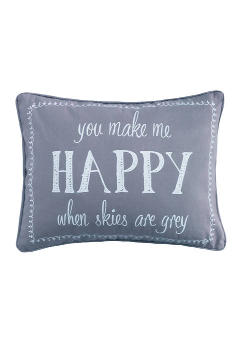 Levtex Grammercy Happy Pillow