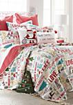 Santa Claus Lane Postcard Pillow