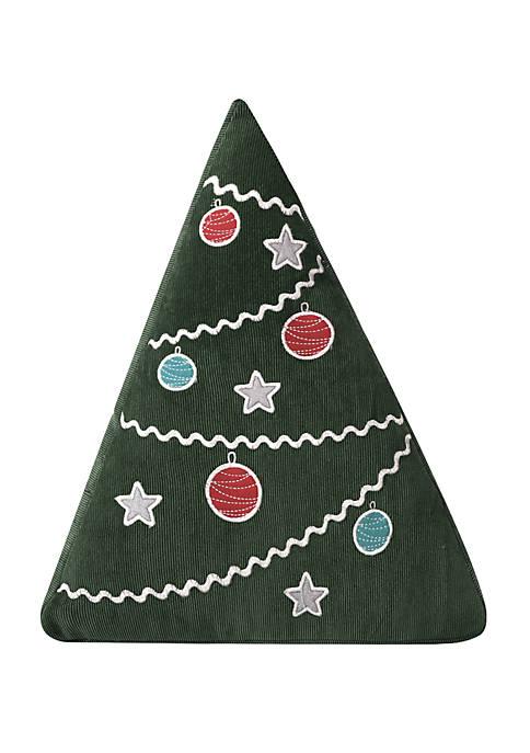 Santa Claus Lane Christmas Tree Pillow