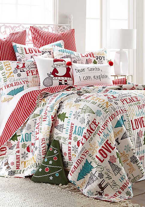 Levtex Santa Claus Lane Quilt Set