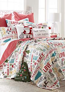 Levtex Santa Claus Lane Quilt Set