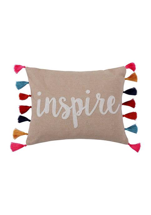 Amisha Inspire Tassel Pillow