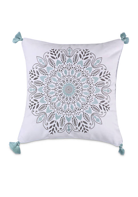 Levtex Sirena Spa Medallion Pillow with Tassels