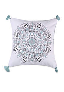 Sirena Spa Medallion Pillow with Tassels