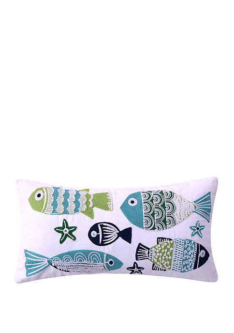 Vero Embroidered Fish Pillow