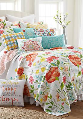 Lilian Coral Quilt Set