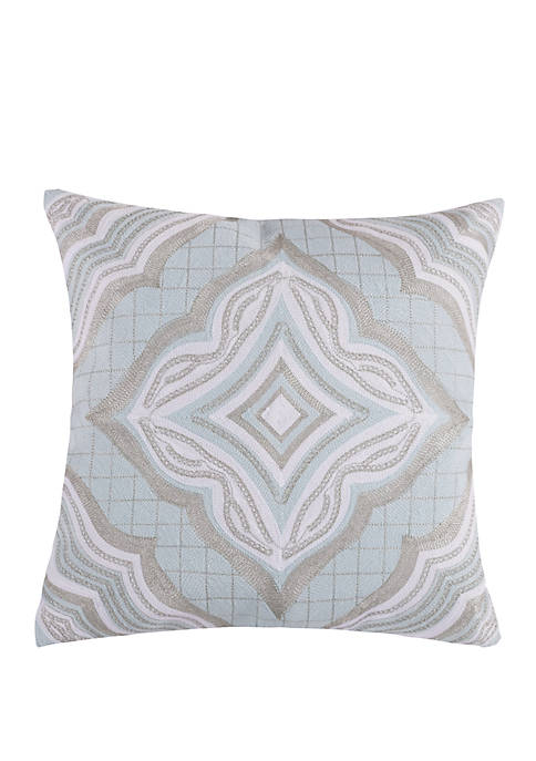Levtex Home Darcy Spa Silver Pillow