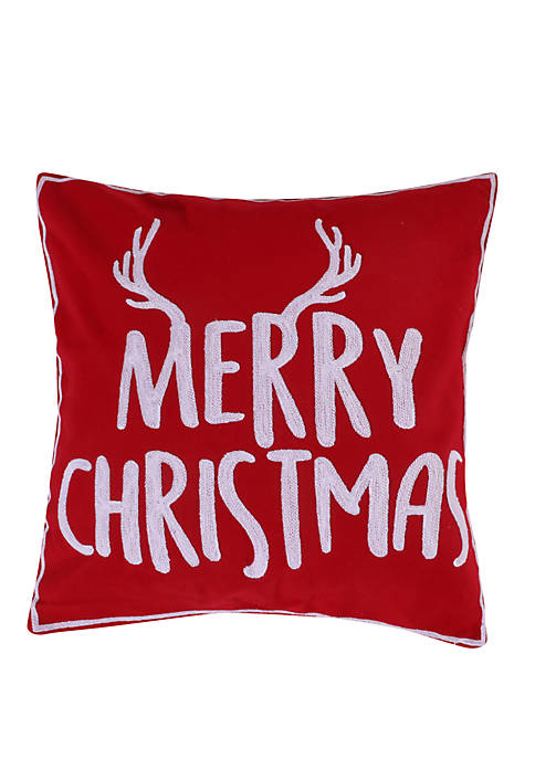 Rudolph Merry Christmas Pillow